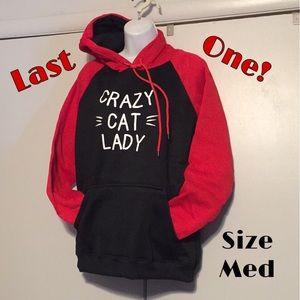 Tops - Crazy Cat Lady Hoodie Sweatshirt